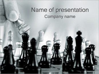Chess PowerPoint Template - Slide 1