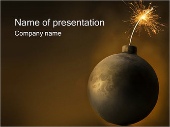 Old Bomb PowerPoint Template