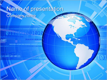 Global Connection I pattern delle presentazioni del PowerPoint