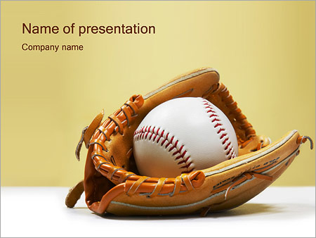 baseball powerpoint template & backgrounds id 0000000535, Powerpoint templates
