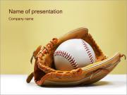 野球 PowerPointプレゼンテーションのテンプレート