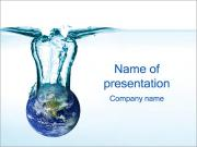 Water Resources Sjablonen PowerPoint presentatie