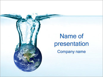 水資源 PowerPointプレゼンテーションのテンプレート