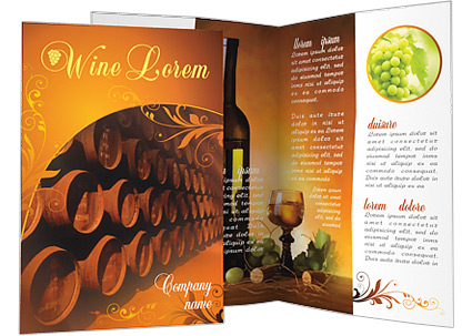 Barrel with wine brochure template design id 0000000545 for Wine brochure template free