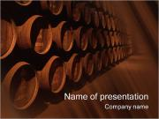 Barrel with Wine PowerPoint Templates