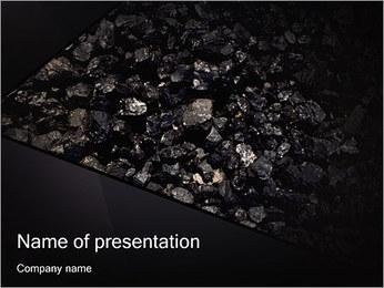 石炭 PowerPointプレゼンテーションのテンプレート