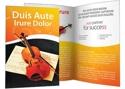 Violino Folhetos promocionai