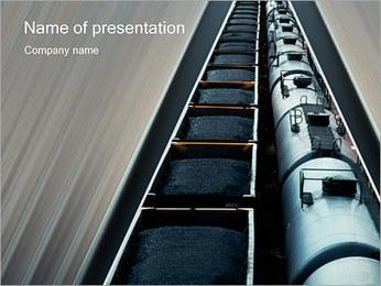 Trasporto ferroviario I pattern delle presentazioni del PowerPoint