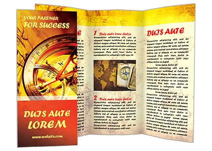 Boussole et carte Les brochures publicitaire