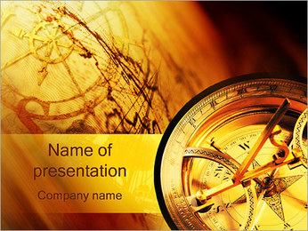 Compass and Map PowerPoint Template