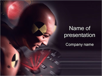 Crash Test PowerPoint sunum şablonları