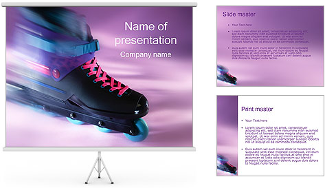 Roller Skates PowerPoint Template