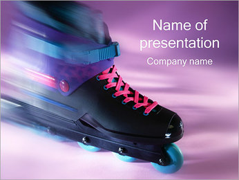 Roller Skates PowerPoint Template - Slide 1