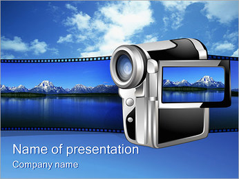 Digital Video Camera PowerPoint Template