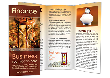 Time & Money Brochure Template