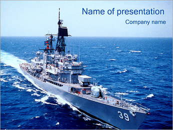 Military Vessel PowerPoint Template