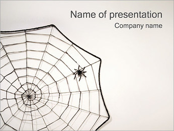 Spider Web PowerPoint presentationsmallar