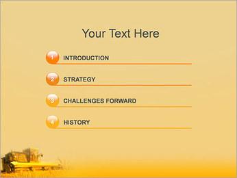 Champ de blé Modèles des présentations  PowerPoint - Diapositives 3