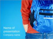 Boy with Bag PowerPoint Templates