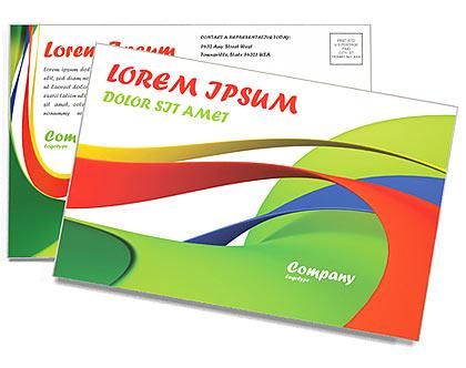 Абстрактные формы Почтовые открытки