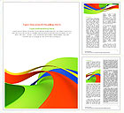 Abstract Shapes Word Templates