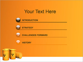 Déchets nucléaires Modèles des présentations  PowerPoint - Diapositives 3