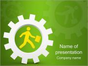 Correndo Negócios Modelos de apresentações PowerPoint