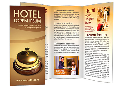 Reception Desk Brochure Template Design ID - Hotel brochure template