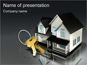 Real Estate Property Sjablonen PowerPoint presentatie