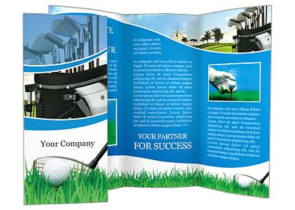 golf ball brochure template