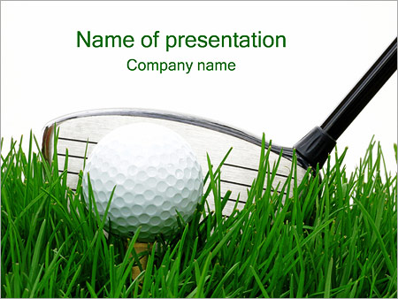 Golf ball powerpoint template backgrounds id 0000000618 golf ball powerpoint templates toneelgroepblik Image collections