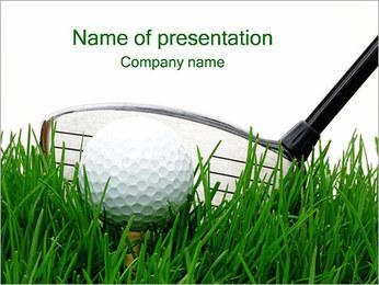 Мяч для гольфа Шаблоны презентаций PowerPoint