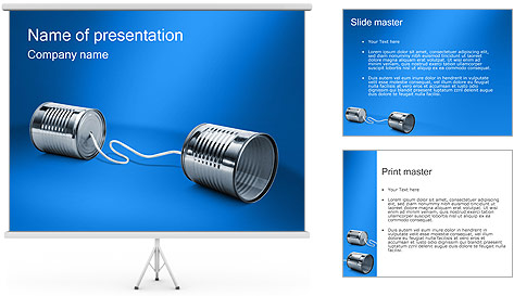Latas de Comunicación Plantillas de Presentaciones PowerPoint