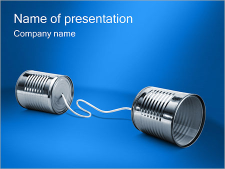 cans communication powerpoint template & backgrounds id 0000000619, Modern powerpoint