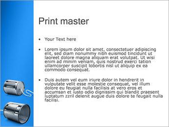 Latas de Comunicación Plantillas de Presentaciones PowerPoint - Diapositiva 24