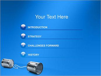 Latas de Comunicación Plantillas de Presentaciones PowerPoint - Diapositiva 3