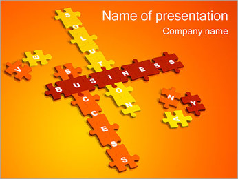 Business Crossword PowerPoint Template