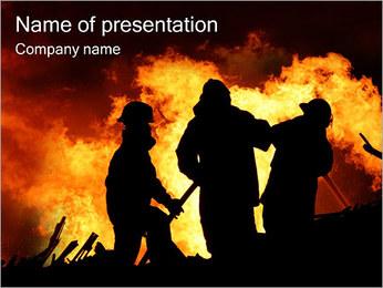 Pompiers Modèles des présentations  PowerPoint