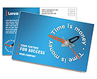Time is Money Postcard Template