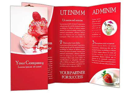 ice cream brochure template design id 0000000625 smiletemplates com
