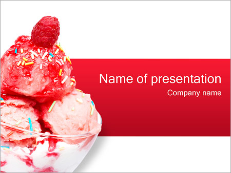 ice cream powerpoint template & backgrounds id 0000000625, Presentation templates