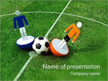 Calcio I pattern delle presentazioni del PowerPoint