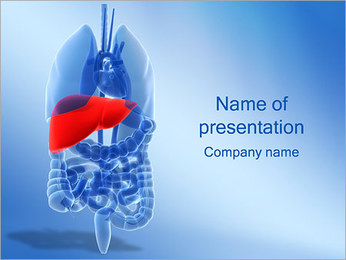 肝臓 PowerPointプレゼンテーションのテンプレート