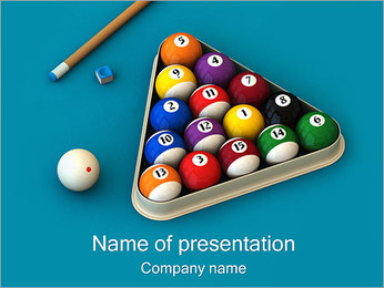 Billiard Gaming PowerPoint Template