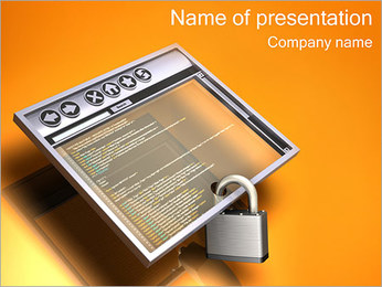 Secure Internet Browser PowerPoint Template
