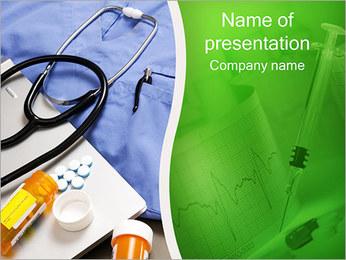 Stetoskop i leki Szablony prezentacji PowerPoint