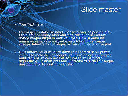 Active Nerve Cell PowerPoint Template