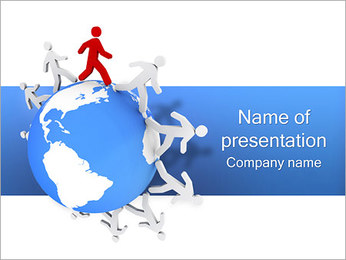 Twisting the World PowerPoint Template