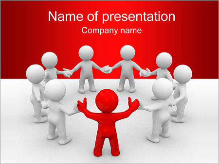 Team of People PowerPoint Template