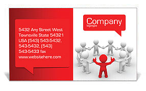 Team of People Business Card Templates